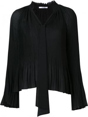 Плиссированная блузка Derek Lam 10 Crosby. Цвет: чёрный