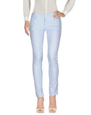 Повседневные брюки SHAFT DELUXE. Цвет: небесно-голубой