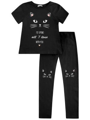 Пижама Oodji. Цвет: черный