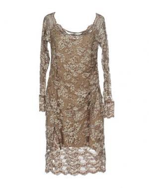 Платье до колена OLVI'S. Цвет: хаки