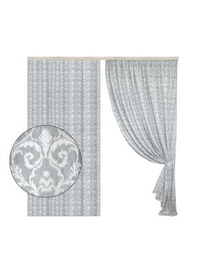 Портьера Версаль серый 200х270 см. T&I. Цвет: серый, белый
