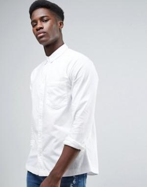 Waven Белая оксфордская рубашка. Цвет: белый