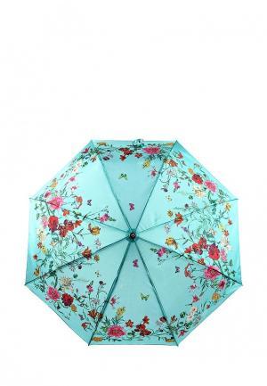 Зонт складной Flioraj. Цвет: бирюзовый