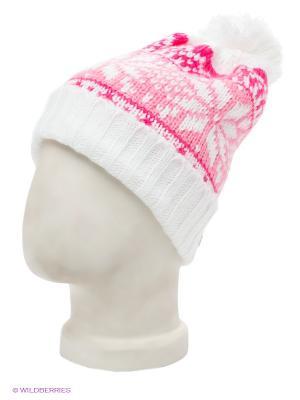 Шапка Maxval. Цвет: белый, бледно-розовый, фуксия