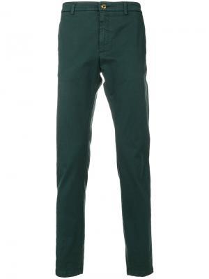 Классические брюки-чинос Department 5. Цвет: зелёный
