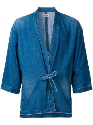 Рубашка в стиле кимоно monkey time. Цвет: синий