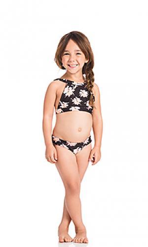 Топ для купания dubai Acacia Swimwear. Цвет: черный