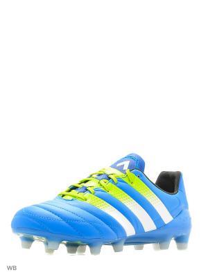 Футбольные бутсы (для мягк.п.) муж. ACE 16.1 FG/AG Leat Adidas. Цвет: синий