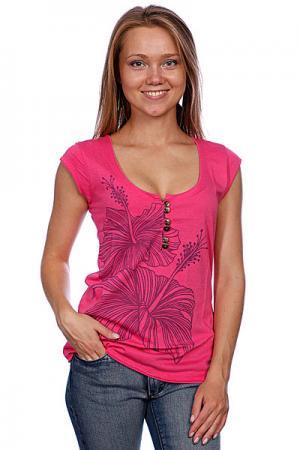 Футболка женская  Alyxia Pink Animal. Цвет: розовый