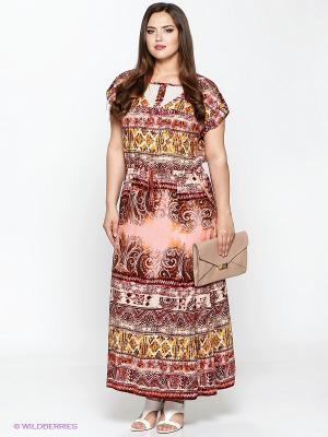 Платье Amelia Lux. Цвет: бордовый, розовый