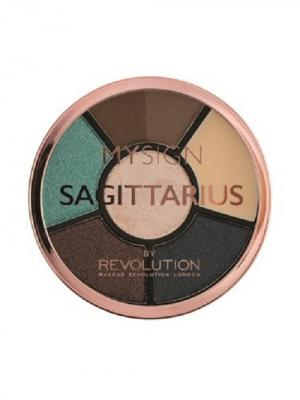 Палетка для макияжа глаз Complete Eye Base Sagittarius MakeUp Revolution. Цвет: черный, бирюзовый, темно-коричневый