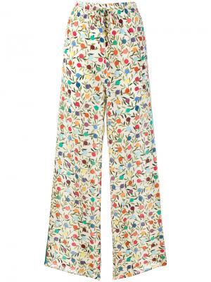 Flared printed trousers Red Valentino. Цвет: телесный