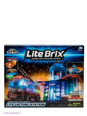 Конструктор Пожарная станция с машиной Lite Вrix. Цвет: синий