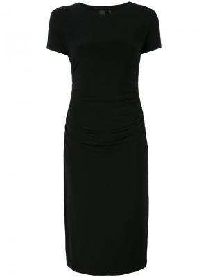 Приталенное платье миди Norma Kamali. Цвет: чёрный