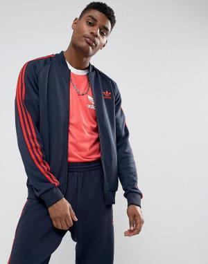 Adidas Originals Темно-синяя спортивная куртка Superstar BS2659. Цвет: темно-синий