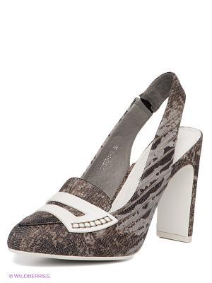 Туфли Renaissance. Цвет: серый, бежевый