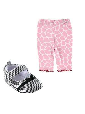 Комплекты Лосины , 1 пара, + Пинетки Luvable Friends. Цвет: розовый, черный