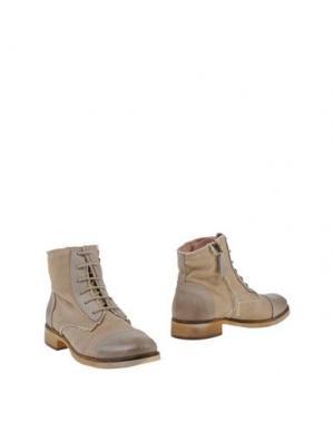 Полусапоги и высокие ботинки HANGAR. Цвет: бежевый