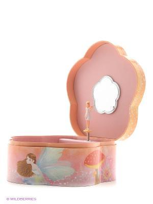 Музыкальная шкатулка с фигуркой в форме цветка Jakos. Цвет: красный, розовый, белый, фиолетовый