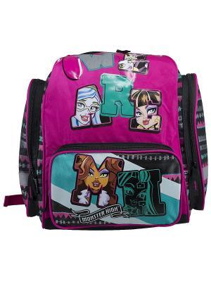 Рюкзак Monster High. Цвет: черный, розовый