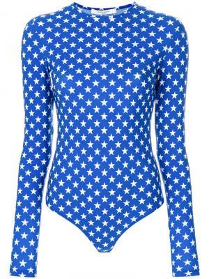 Боди с принтом звезд Givenchy. Цвет: синий