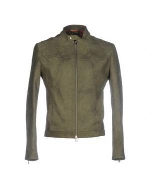 Куртка ROBERTO PEPE. Цвет: зеленый-милитари