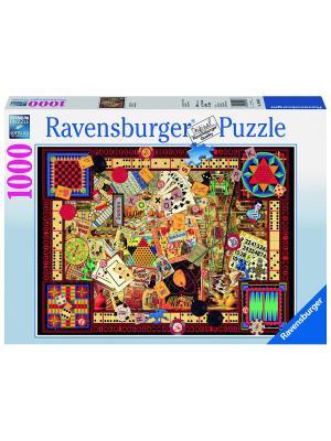 Пазл  Старинные игры 1000 шт Ravensburger. Цвет: голубой, зеленый, коричневый