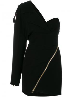Облегающее платье на одно плечо Alexandre Vauthier. Цвет: чёрный