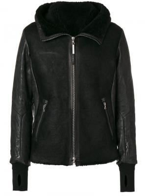 Куртка с подкладкой из овчины Isaac Sellam Experience. Цвет: чёрный