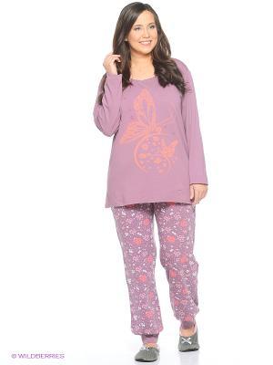 Женская пижама NICOLETTA. Цвет: лиловый