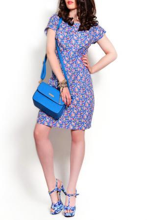 Платье MONT PELLIER. Цвет: ярко-синий, цветок