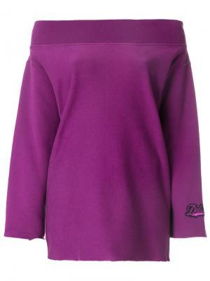 Толстовка с открытыми плечами Golden Goose Deluxe Brand. Цвет: розовый и фиолетовый