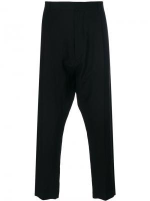 Зауженные брюки с заниженной проймой Ann Demeulemeester. Цвет: чёрный