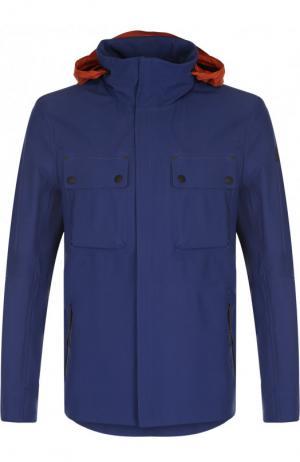 Куртка на молнии с капюшоном Belstaff. Цвет: синий