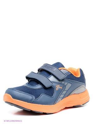 Кроссовки Зебра. Цвет: темно-синий, оранжевый