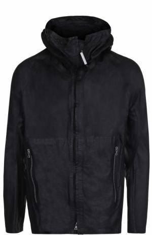 Кожаная куртка на молнии с капюшоном Isaac Sellam. Цвет: черный