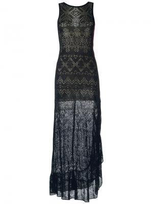 Кружевное платье Cecilia Prado. Цвет: чёрный
