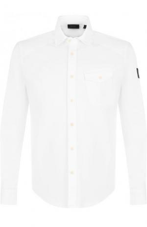 Хлопковая рубашка с накладным карманом Belstaff. Цвет: белый