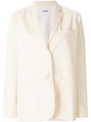 Приталенный классический пиджак Zadig & Voltaire. Цвет: телесный