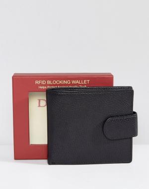 Dents Кожаный бумажник. Цвет: черный