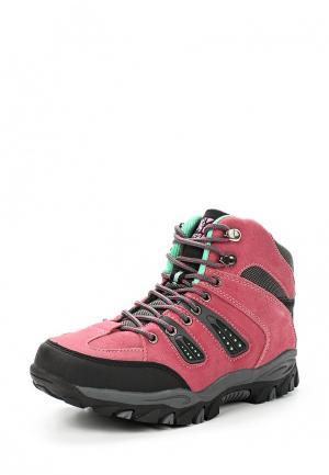 Ботинки трекинговые Crosby. Цвет: розовый