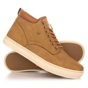 Кеды кроссовки высокие  Wood Camel/Cognac British Knights. Цвет: коричневый