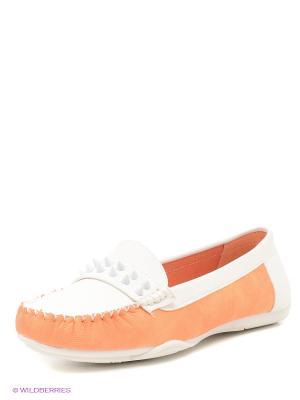 Мокасины Wilmar. Цвет: белый, светло-оранжевый