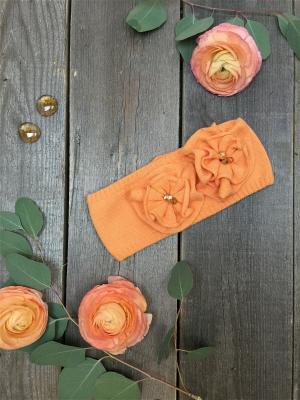 Повязка на голову SHUMI DESIGN. Цвет: оранжевый