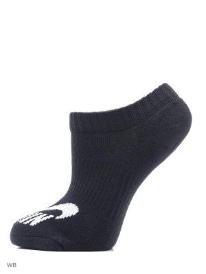 Носки NIKE SB 3PPK NO SHOW SOCK. Цвет: черный