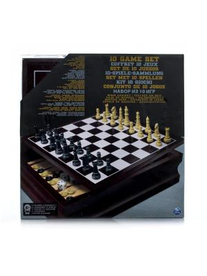 Настольные игры Spin Master семейный набор 10 игр. Цвет: черный, желтый, серый