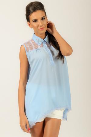 Рубашка Angel. Цвет: синий