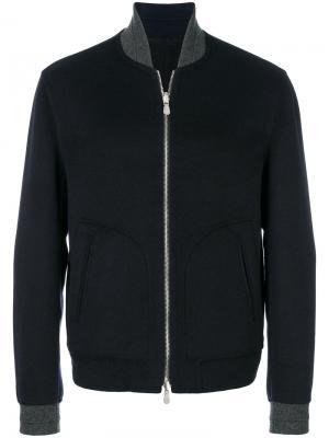 Куртка-бомбер на молнии Brunello Cucinelli. Цвет: синий