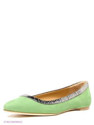 Балетки LUIGI FERRO. Цвет: зеленый