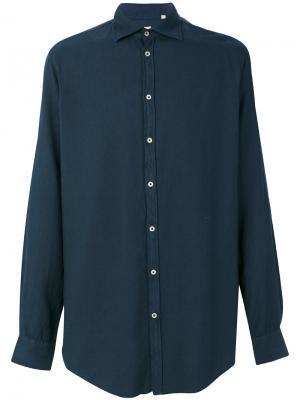Классическая рубашка Massimo Alba. Цвет: синий